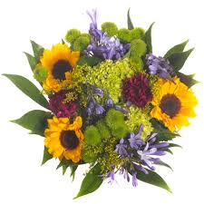 Centerpieces With Sunflowers by Centerpieces Purple Flowers And Sunflowers