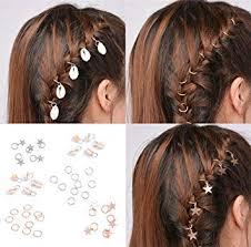 girls hair rings images Sc0nni 40pcs gold silver braid rings hair rings for jpg