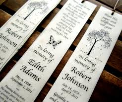 memorial program wording 100 plantable seed paper bookmarks memorial funeral favors