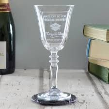 graduation wine glasses personalised graduation wine glass by chalk and cheese