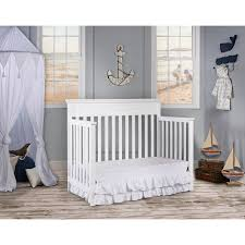 dream on me chesapeake 5 in 1 convertible crib snow fall