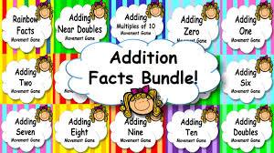 addition facts mental maths strategies game brain break or maths