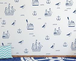 popular nautic wall buy cheap nautic wall lots from china nautic nautical wall decals ocean ship birds anchor wall stickers for kids bedroom nursery decal kids room
