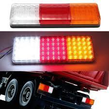 led tail lights for a trailer 2x 75 led tail lights trailer caravan truck boat stop indicator