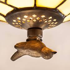 Art Deco Style Light Fixtures by Prairie Tiffany Semi Flush Ceiling Light By Tiffany Lighting Direct
