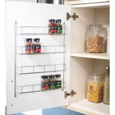 kitchen cupboard storage ideas ebay 5 tier spice herb jar rack holder kitchen door cupboard wall