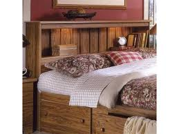 charming bookcase headboard also montego maple king bookcase