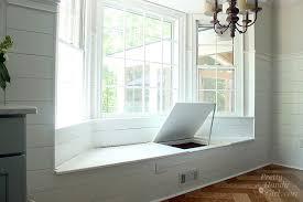 built in window seat building a window seat with storage in a bay window pretty handy