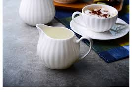 online shop plain white bone china cafe sugar bowl cream boat