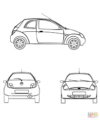 ford ka coloring page free printable coloring pages