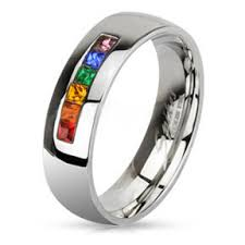 marriage ring rainbow string smooth top ring and wedding