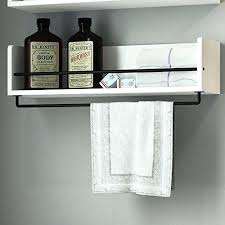 Bathroom Shelve Wood Bathroom Shelf White Wood Bathroom Shelf With Towel Bar