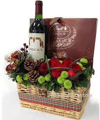 Wine And Chocolate Gift Basket Wine Chocolate Gift Basket A Bottle Of Bordeaux Apc France Wine
