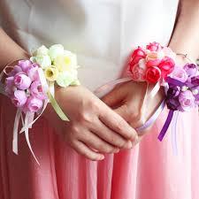 bridesmaid corsage aliexpress buy artificial wrist corsage bridesmaid