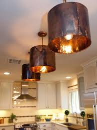decoration in copper pendant lights kitchen on interior decor