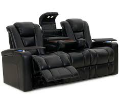 Leather Sofa Sale by Octane Mega Multi Function Reclining Sofa In Black Bonded Leather