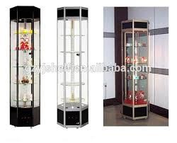 lockable glass display cabinetsliving room showcase corner design