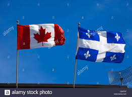 quebec and canada flags stock photo royalty free image 36042139