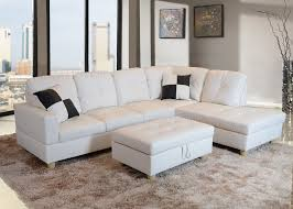 Faux Leather Sectional Sofa With Chaise Low Profile White Faux Leather Sectional Sofa W Right Arm Chaise