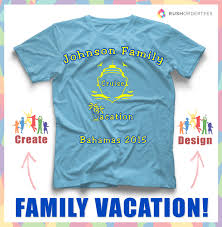 family cruise vacation custom t shirt design idea create a family
