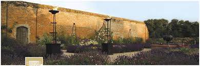 the walled garden at cowdray british gardens to visit in west