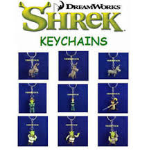 new retired shrek movie mini collection figure keychains backpack