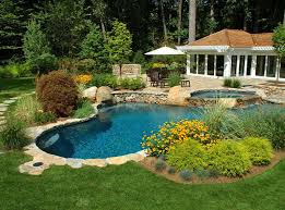 Garden Pool Ideas Pool Landscaping Ideas With Plants Flowers Garden Landscaping