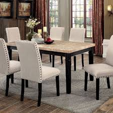 Transitional Dining Room Chairs Dodson I Transitional Dining Table