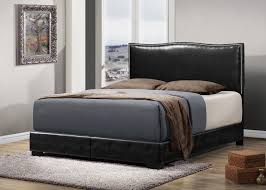 Bedroom Furniture Darvin Black Leather King Size Sleigh Bed Frame With Drawers Storage Idolza