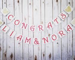 wedding congratulations banner wedding congratulations etsy
