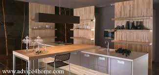 Modern Open Kitchen Design Shelves Cabinet Design And Modern Kitchen Design
