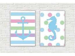 Kids Room Prints by 2 Prints Nautical Wall Art Nautical Kids Room Decor Nursery Wall