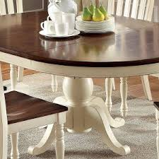 White Wood Dining Table Furniture Oval Dining Table For Style And Beautiful Dining Room