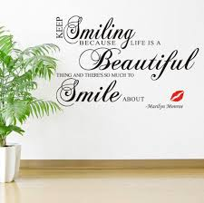 aliexpress com buy keep smiling because life is beautiful thing