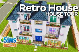 the sims freeplay retro house original design youtube