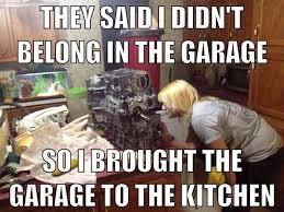 Woman Kitchen Meme - funny female mechanic google search something funny or cute