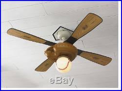 hunter baseball ceiling fan baseball 44 in kids mitt indoor ceiling fan light 4 blades kit vintage