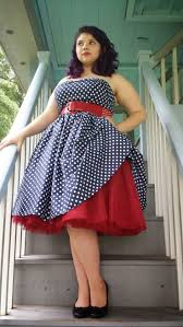the charm of vintage plus size dresses