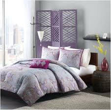 Plum Bed Set Decoration Grey And Purple Comforter Set Bed Bath Cotton