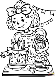 has a birthday party coloring page free printable coloring
