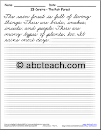 12 best images of cursive handwriting paragraph worksheets