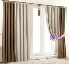 Blue And Beige Curtains Summer Style Linen Curtains For Living Room Blackout Curtain White