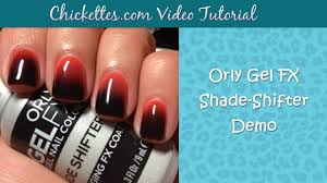 orly gel fx shade shifter demo color changing gel polish youtube