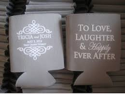 wedding koozie favors 17 best my favorite totally wedding koozies images on