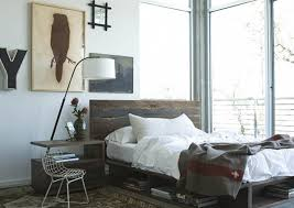 reclaimed wood platform beds farmhouse bedroom chicago by