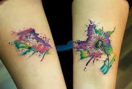 tattoo pictures color dandelion tattoo color creativefan