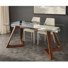 Modern Extendable Dining Table by Modern Extendable Dining Table With Tempered Glass Top Iside