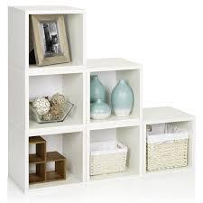 White Bookcase With Drawers by Way Basics Modular 6 Cube Bookcase Hayneedle