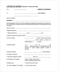 lease letter of intent template 28 images letter of intent