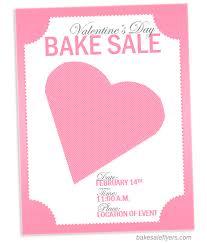 valentine u0027s day flyer template bake sale flyers u2013 free flyer designs